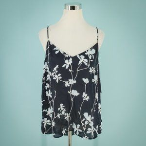 Equipment XL Blue Layla Floral Print Camisole NWT